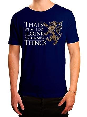 Got #7 Premium T-Shirt Das Lied von Eis und Feuer TV-Serie I Drink and I  Know Things Herren Shirt: Amazon.de: Bekleidung