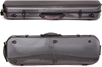 Tonareli Violin Oblong Fiberglass Case Checkered Special Edition VNFO 1007 4//4