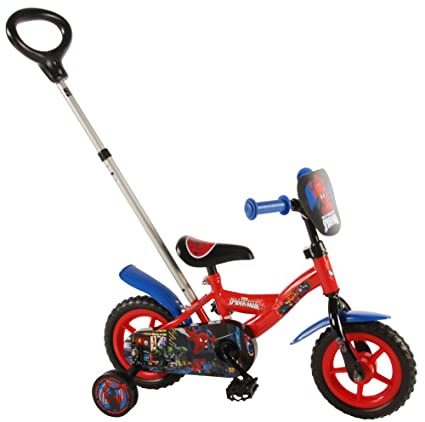 Spiderman Volare41054 Boys Bicycle With Push Rod Red Amazon Co Uk