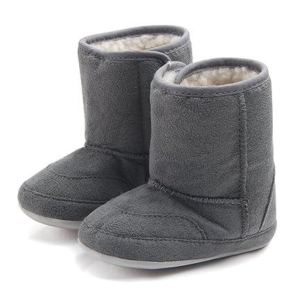 4454ae06 Butterme Botas de Nieve de Suela Blanda para Bebé Recién Nacido Botas de  Cuna Botas de