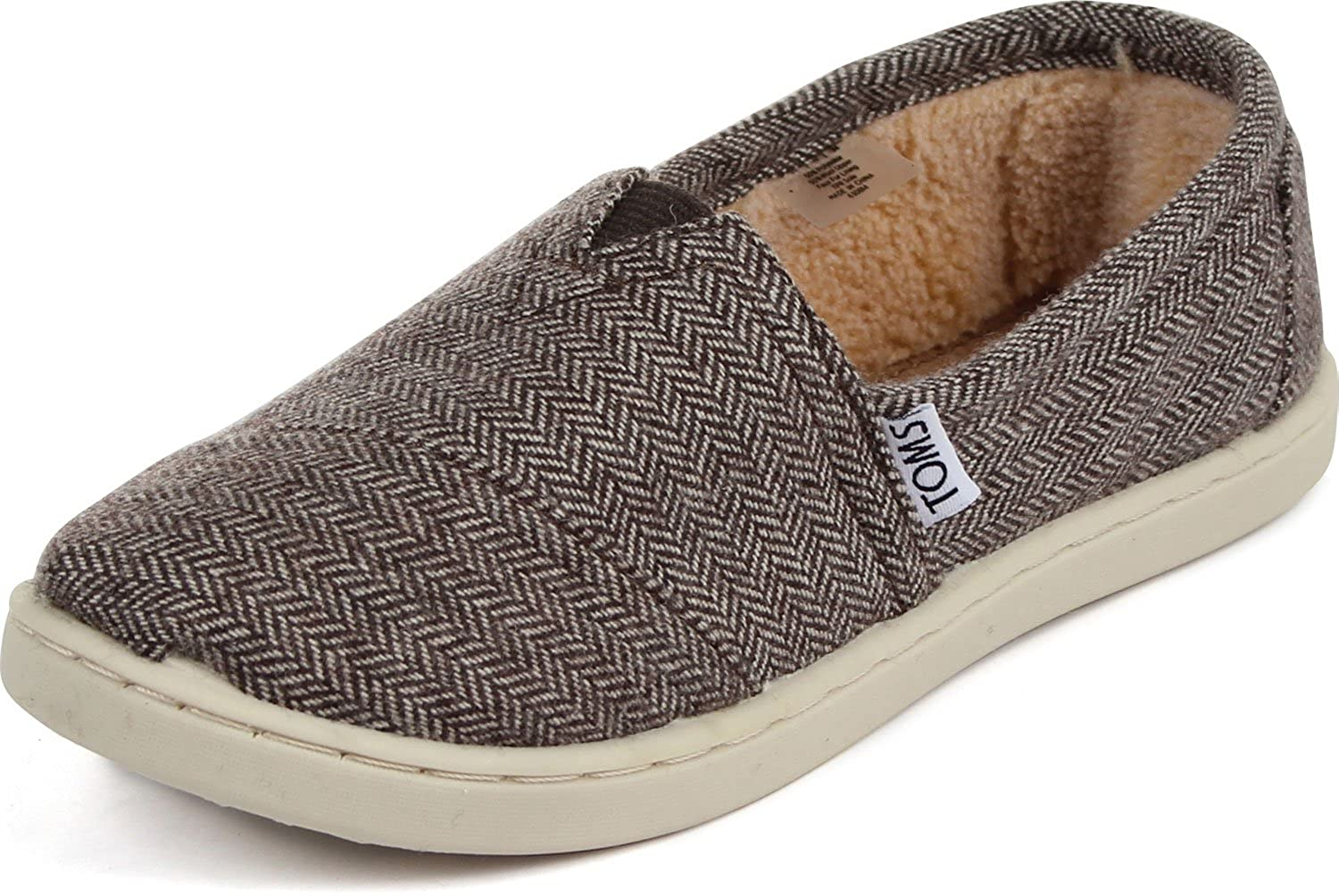 Amazon.com | TOMS - Youth Classic Slip-On Shoes, Size: 12 M US Little Kid, Color: Brown Herringbone | Loafers