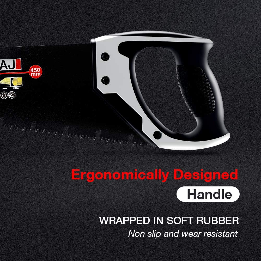 ergonomischer Gummigriff f/ür Holz-Enthusiasten AIRAJ 45,7 cm Pro Hands/äge mit umgekehrter Nut-Design Holzs/äge und Gartens/äge f/ür Gartenarbeiten