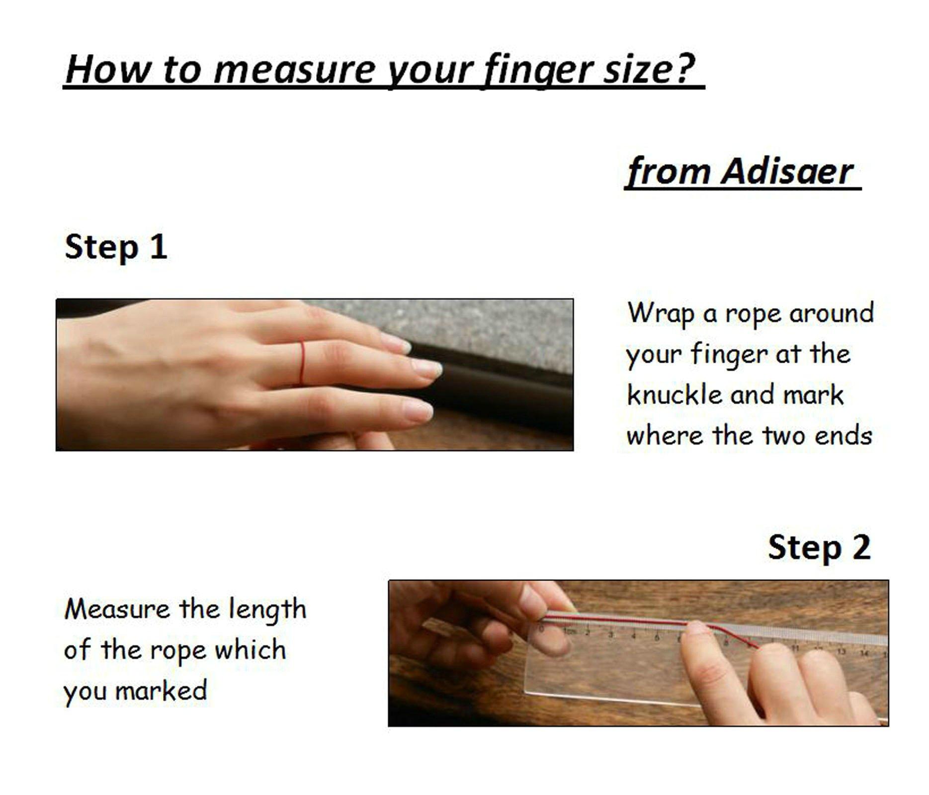 Adisaer Biker Rings Silver Ring for Men Skull Amber Ring Size 10.5 Vintage Punk Jewelry by Adisaer (Image #6)