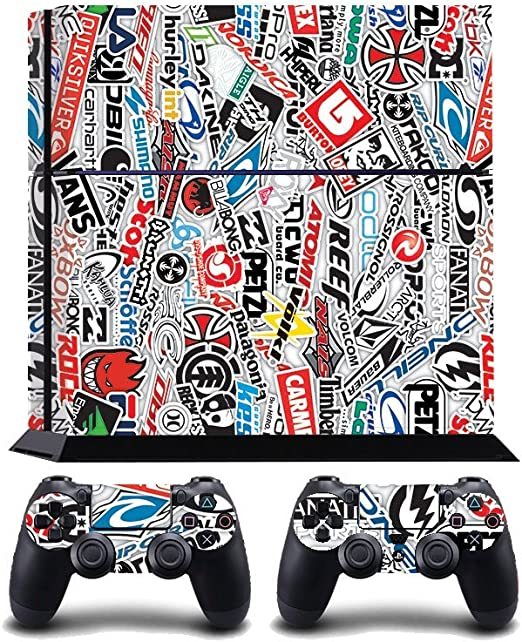 StickerBomb Extreme Sports Logos Print PS4 PlayStation 4 Vinyl Wrap / Skin / Cover / Pegatina para Sony PlayStation 4 Console y PS4 Controllers: Amazon.es: Hogar