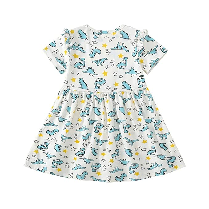 Mädchen Kleider Beikoard Baby Mädchen Kind Kinder Dinosaurier Druck ...