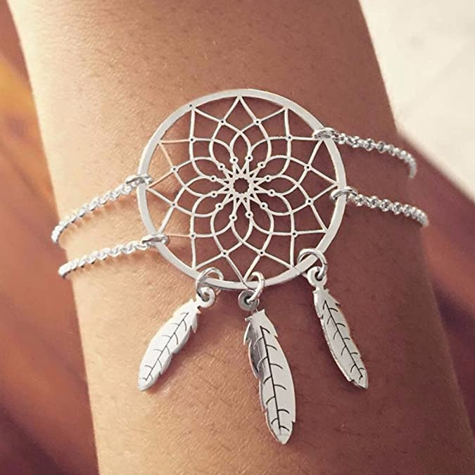Double Layer Feather Tassel Br...