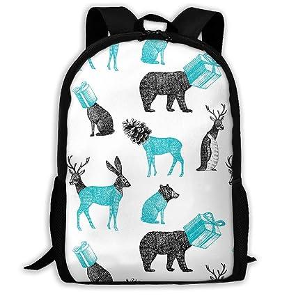 TAOHJS106 Penguin Bear Rabbit Pattern Waterproof Adult Backpack Shoulder Bag  for Women and Men Premium Durable bd4197988af6e