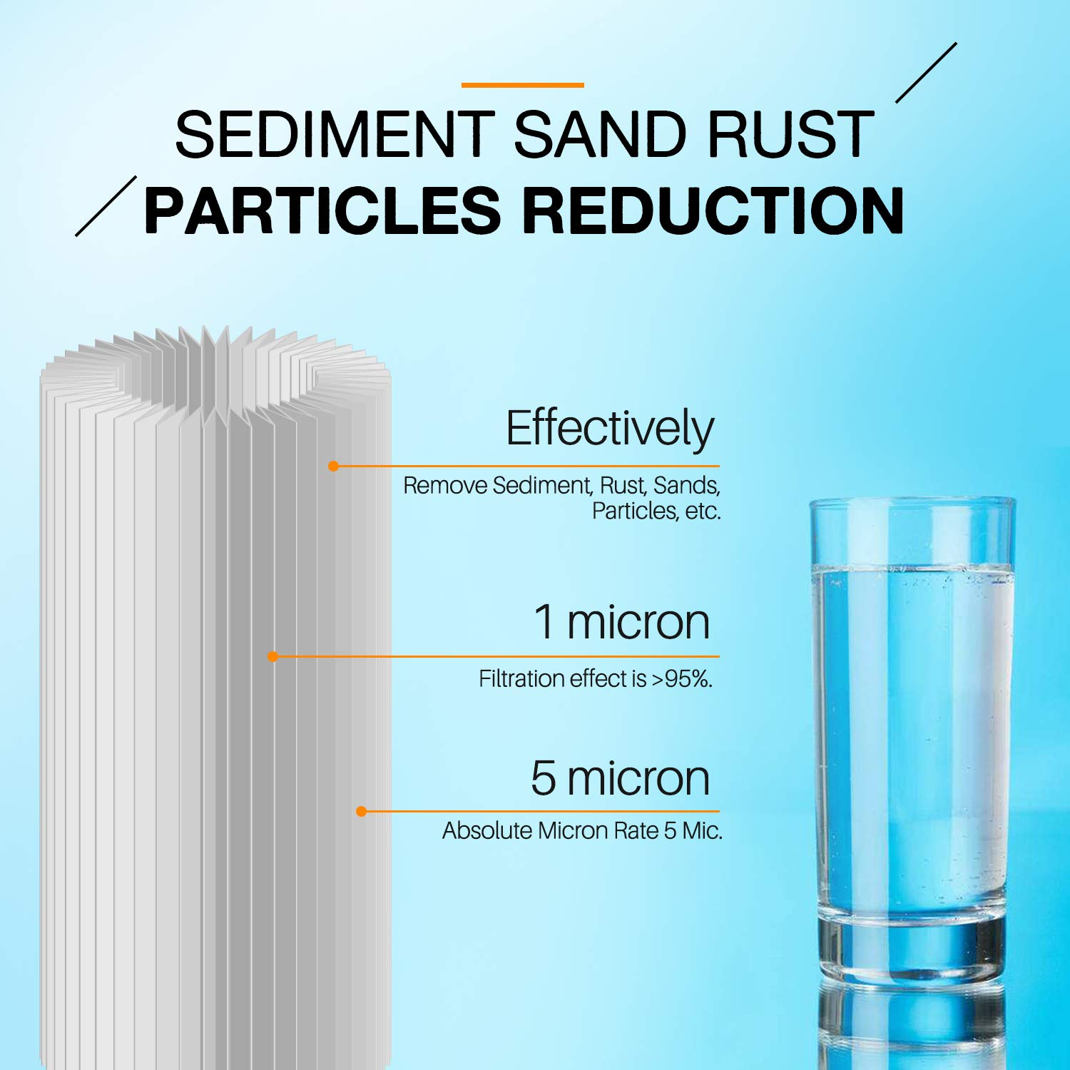 2PC Sediment Water Filter Replacement Cartridge Fits American Plumber W50PEHD