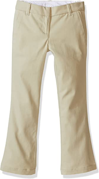 Nautica Girls School Uniform Bootcut Twill Pant