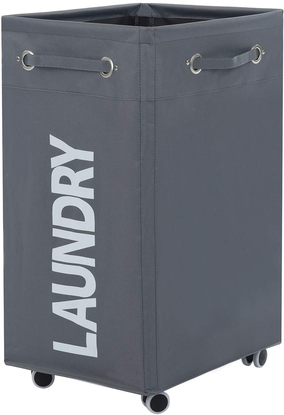Haundry 85.8L Large Collapsible Laundry Hamper with Wheels, Waterproof Rolling Clothes Hamper Basket Bin for Dirty Clothes Storage