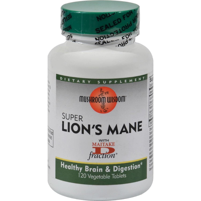 Maitake Products, Mushroom Wisdom Super Lions Mane - 120 vcaps: Amazon.es: Salud y cuidado personal