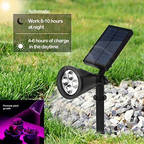 Solar Grow Light Outdoor Solar Spotlight 16 Led Grow Lamp Adjustable For Outdoor Automatic Plants Hydroponics Gardening