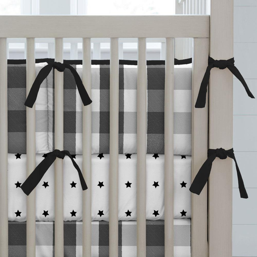 Carousel Designs Black Buffalo Check Crib Bumper