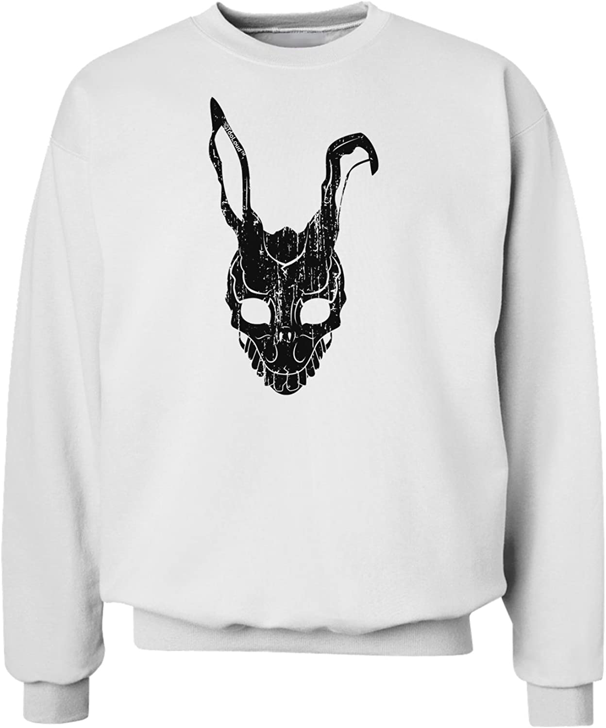 TOOLOUD Scary Bunny Face Black Distressed Sweatshirt