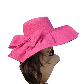 bb4dd125120 Rankei Women Wide Brim Sun Hat Wedding Church Sea Beach Hats For Women  Floppy Ladies Hat