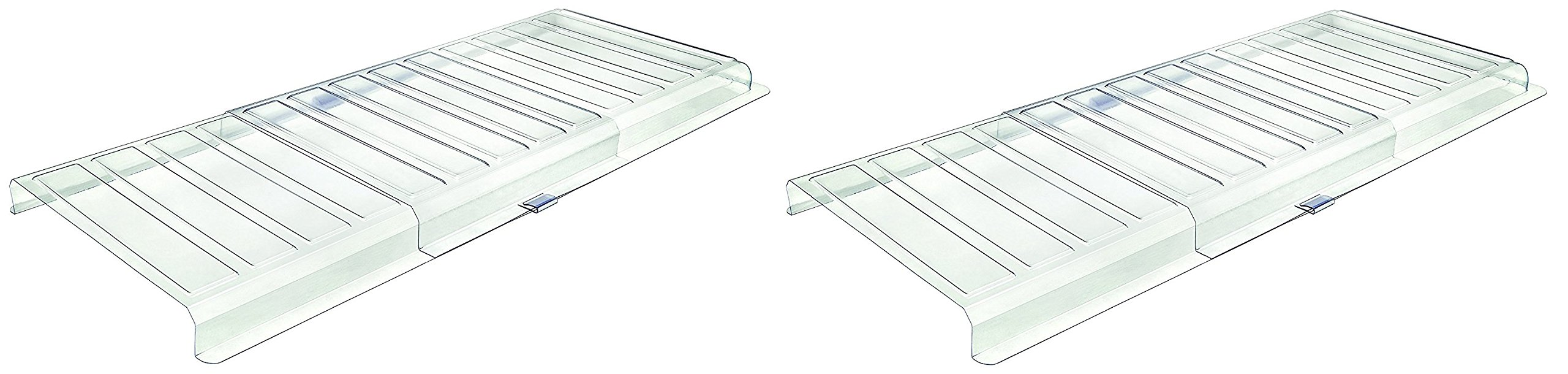 Deflecto Under Furniture Air Deflector, Air Vent Extender, Linking Clips and Tape Included, For Use with Floor Registers up to 11 Inches Wide, White (UFAD) (Pack of 2)