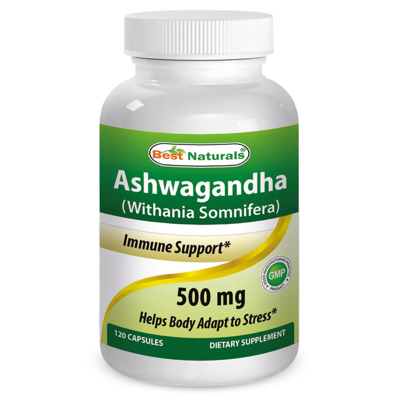 Best Naturals Ashwagandha Extract 500 Mg 120 Capsules