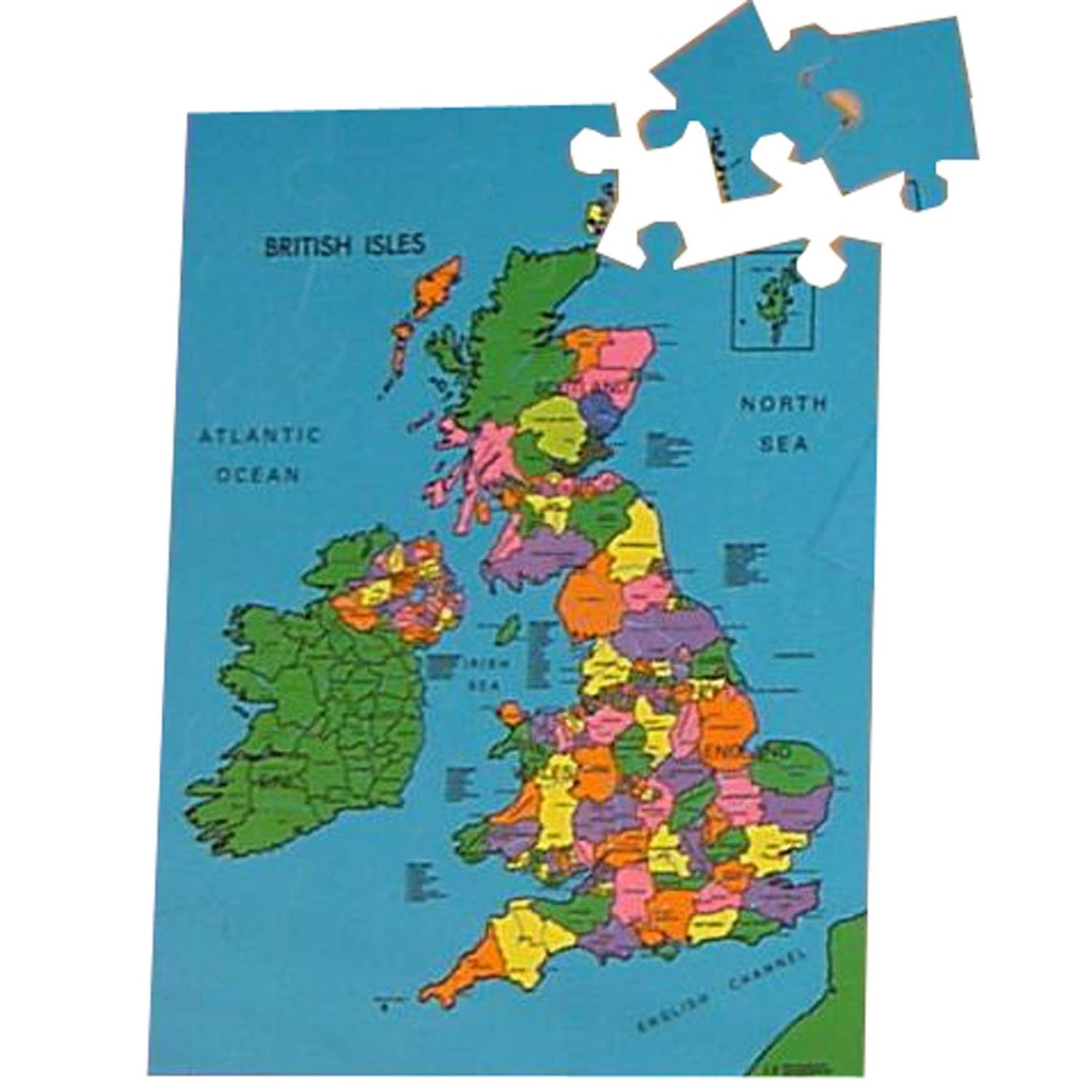 Large British Isles Map Puzzle - A Superb Way To Learn About Our ...