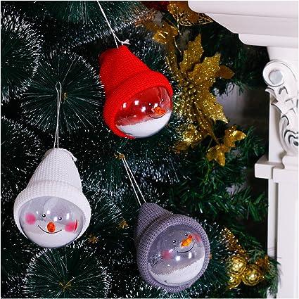 Amazon.com: VOWOV Christmas Ball Ornament Clear Plastic Xmas Tree ...