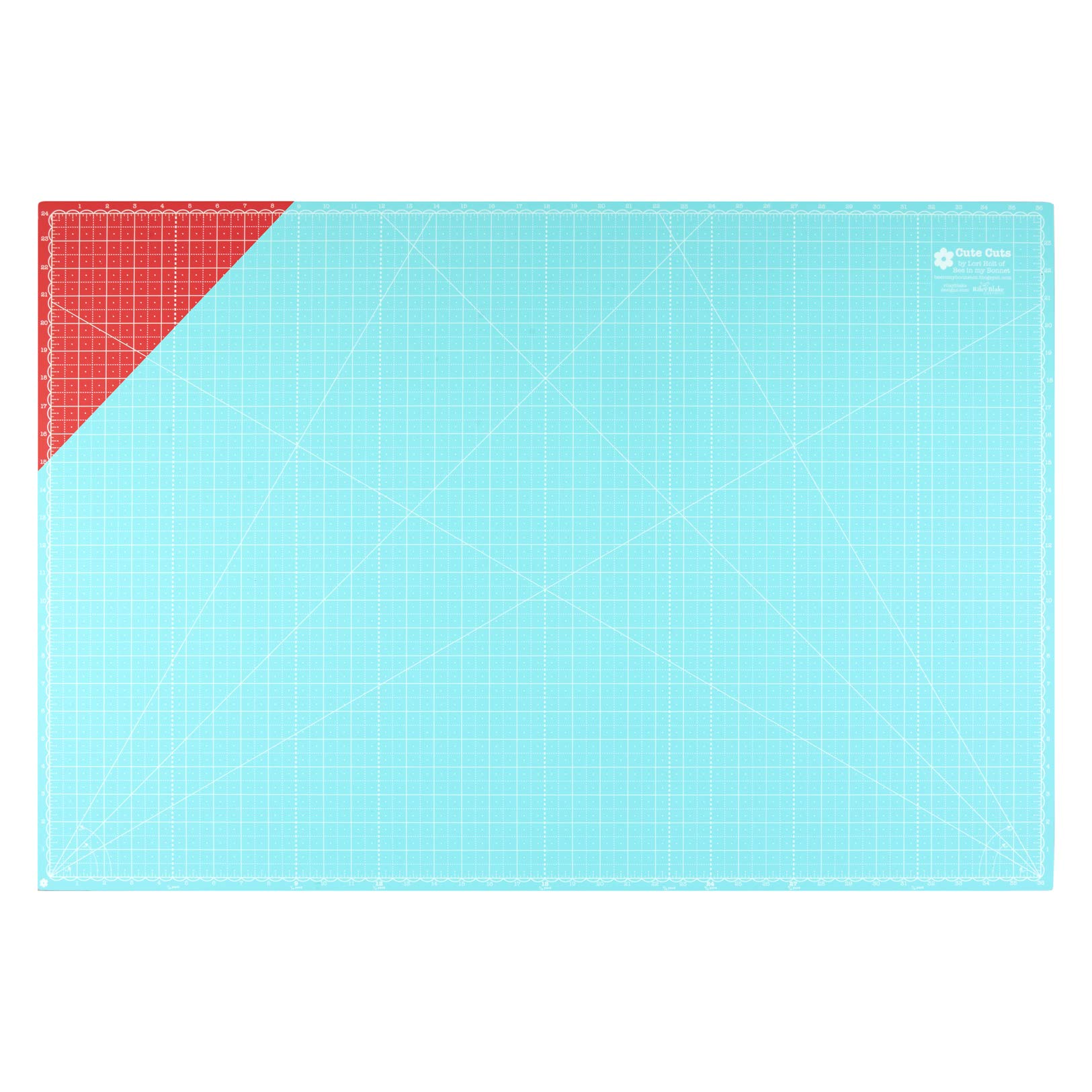 Riley Blake Designs Lori Holt 24'' x 36'' Cutting Mat Riley Red/Cottage by Riley Blake Designs