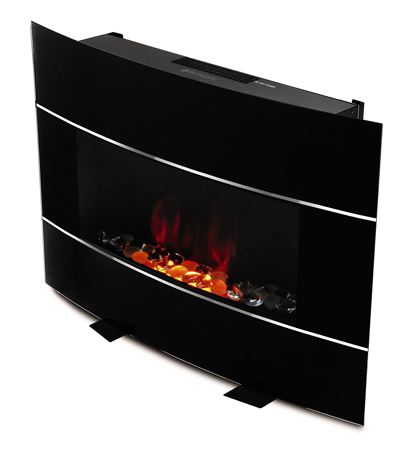 amazon com bionaire electric fireplace heater with adjustable flame