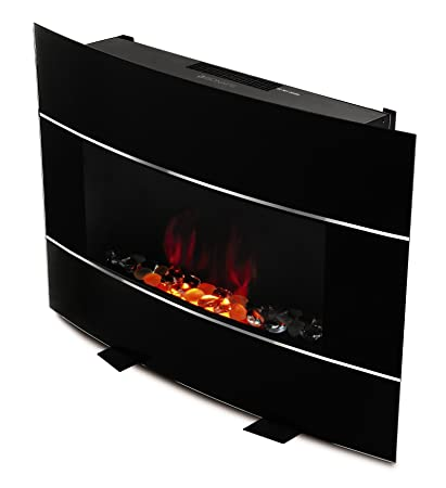 amazon com bionaire electric fireplace heater with adjustable flame rh amazon com electric fireplace logs without heater electric fireplace no heat coming out
