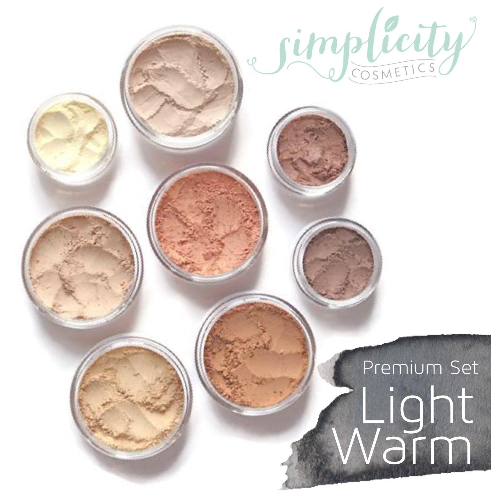 Mineral Makeup Premium Set - Pale   Blush   Foundation   Sheer Powder   Eyeshadow   Bronzer   Under Eye Concealer   Starter Set