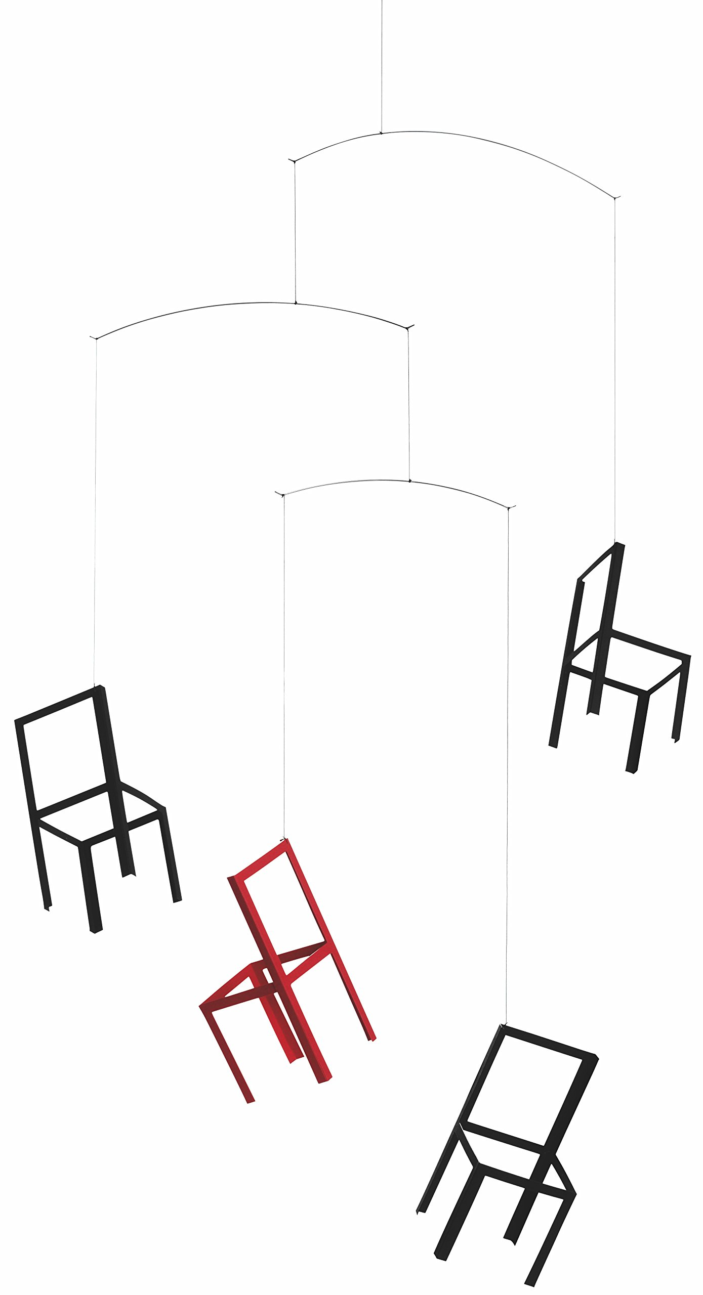 Flensted Mobiles Flying Chairs Hanging Mobile - 22 Inches Cardboard