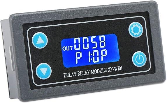 Apagado Retardo de activaci/ón Ciclo de temporizaci/ón Interruptor de Tiempo M/ódulo de rel/é Rel/é retardado Droking 12V Rel/é de retardo de Tiempo DC 6-30V Temporizador Rel/é Tarjeta de rel/é
