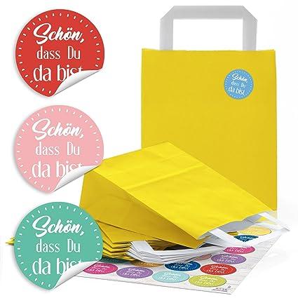 48 amarillas bolsas de papel Papel de bolsas de bolsas de ...