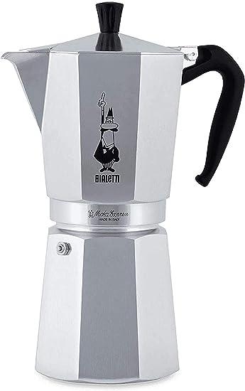 Bialetti Moka Express Cafetera Italiana Espresso, 18 Tazas, Aluminio, Plateado: Bialetti Industrie: Amazon.es: Hogar