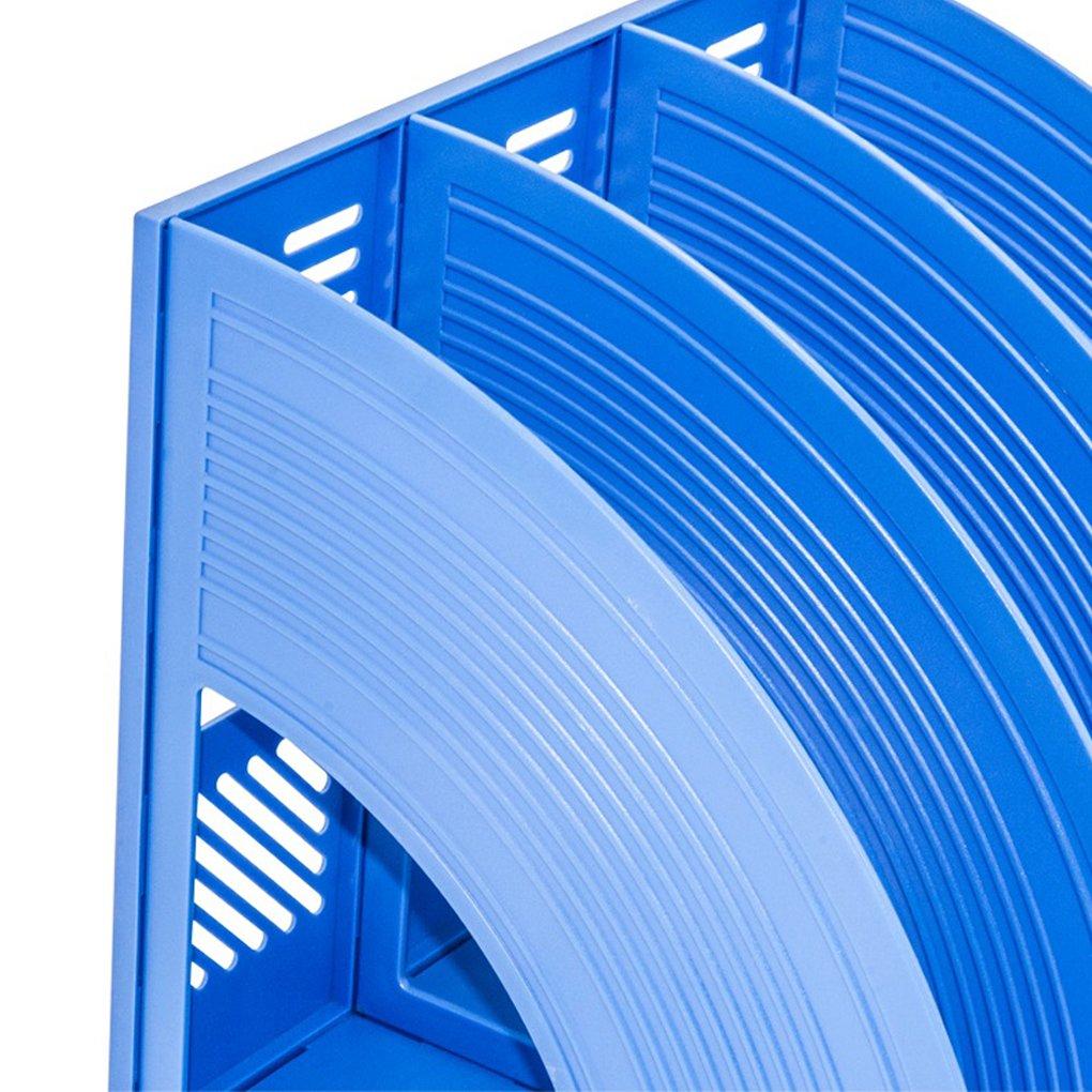 aus Kunststoff Magazin-Halter Organizer-Box schwarz stabil 4 F/ächer Zeitschriften-Halter f/ür Dokumente Sayeec Schreibtisch-Organizer zur Aufbewahrung und Pr/äsentation Schrank