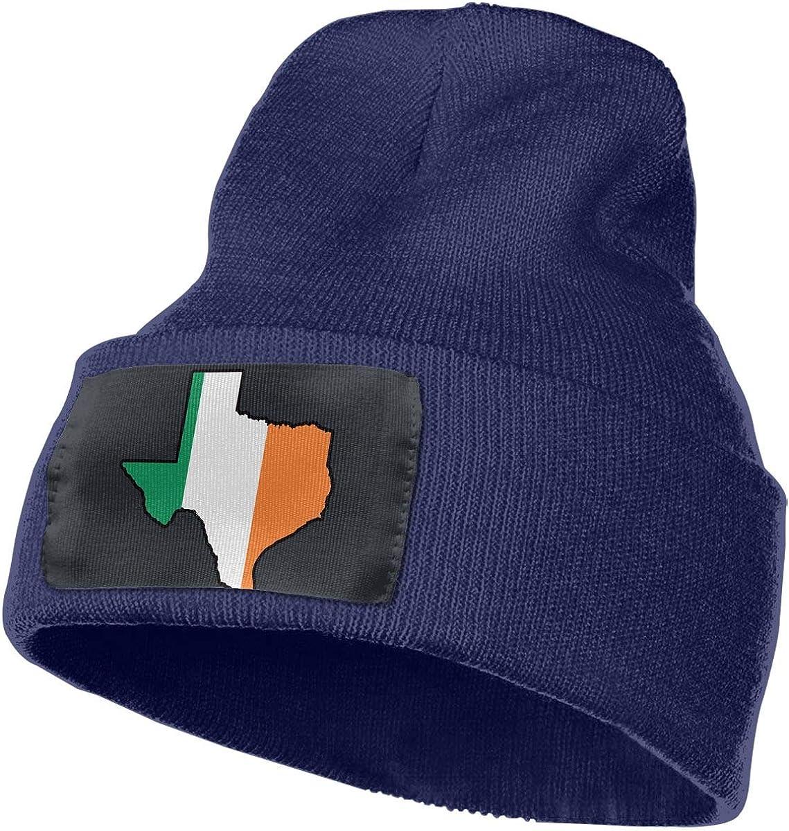 100/% Acrylic Skull Cap MXMAOM9MX Irish Flag Texas Map Warm Knitting Hat Mens Womens