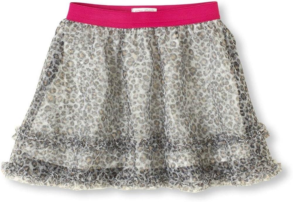Girls Leopard Mesh Tutu Skirt