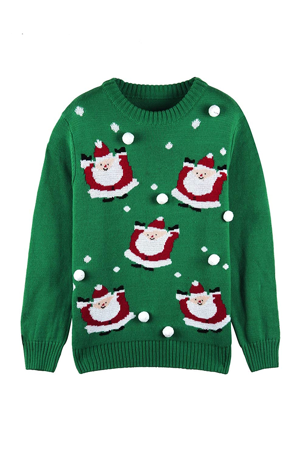 Sovoyontee Women Long Sleeve Knit Funny Cute Ugly Christmas Pullover Sweater