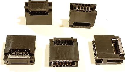 5 pcs x IDC 2.54 mm Prise Câble Ruban 10 broches #a2054