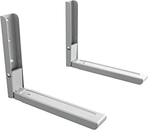 AVF EM60S-A Universal Wall-Mounted Microwave Brackets (Set of 2) - Silver