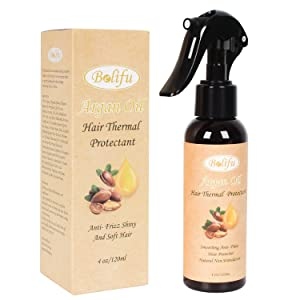 Belifu Argan Oil Heat Hair Protector Spray, Thermal Heat Protectant Against Flat Iron - Sulfate Free & Natural Prevents Damage Dryness Breakage & Split Ends Premium Nature 4 oz