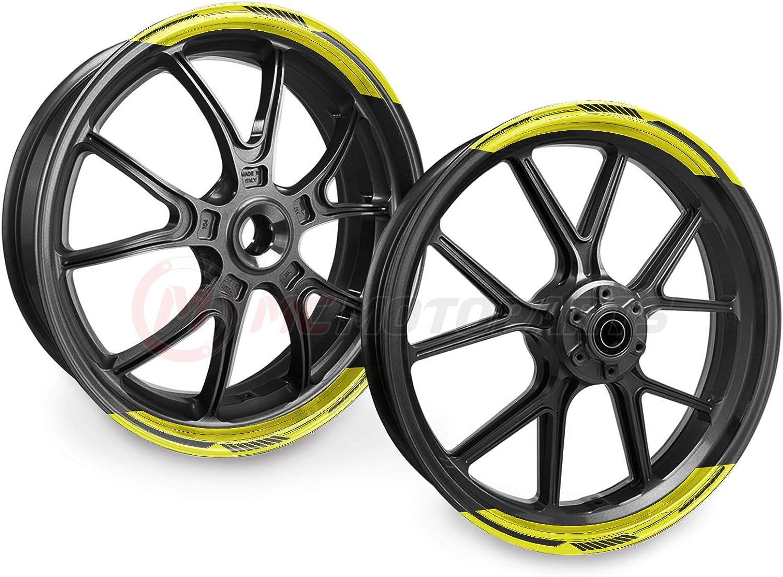 Rio Hondo Circuit MotoGP pre-spaced adhesive PVC Various Colors Car Moto Tuning 1 kit with 5 stickers