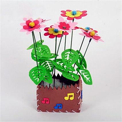 Amazon Com Queenbox Handmade Eva Flower Pot Toy Kids Educational