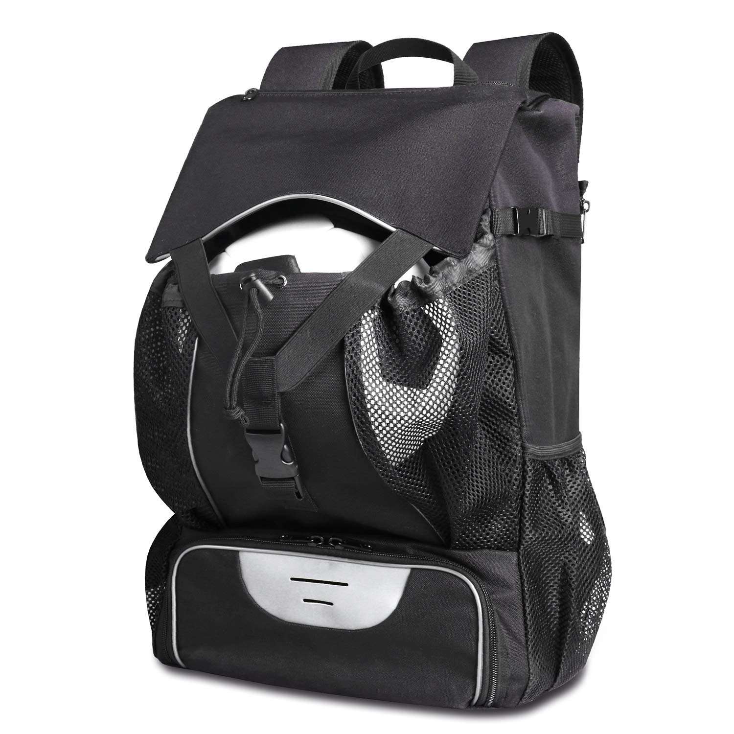 880e5fe2eb12 Amazon.com   Estarer Soccer Bag Backpack Fit Baseball Basketball Football  Volleyball w 15.6inch Laptop Compartment Sport Backpack   Sports   Outdoors