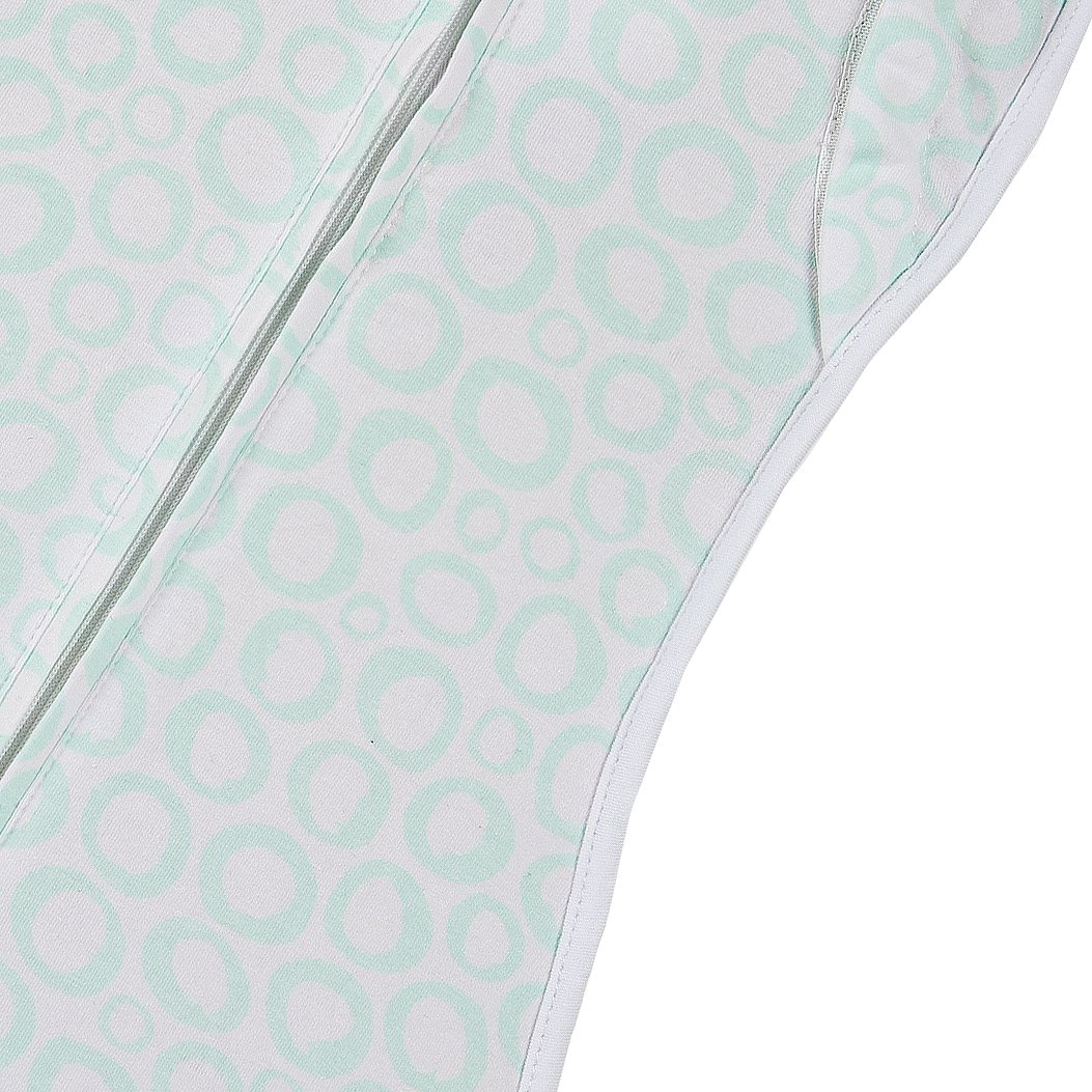 Woombie Convertible Unvented Nursery Swaddling Blankets, Mint O's, 5-13 Pounds