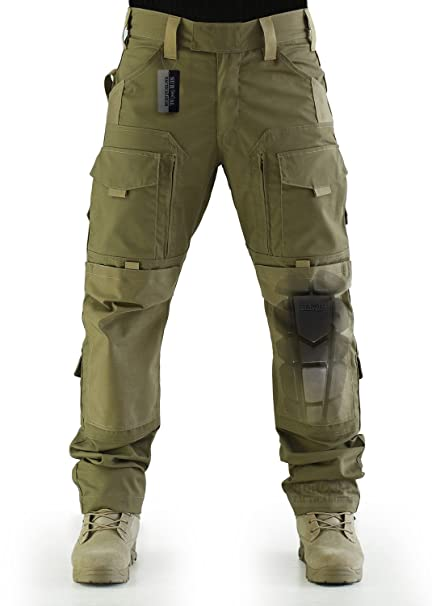 4f742bc51d ZAPT Breathable Ripstop Fabric Pants Military Combat Multi-Pocket Molle Tactical  Pants with EVA Knee