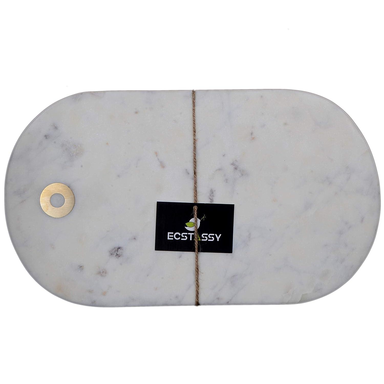 Ecstassy ハンドメイド ホワイト ラベンダー マーブル チーズボード サービング チーズボード | チーズパドル | マーブル チョッピングボード | マーブル チーズプラッター | チーズプレート | マーブル チーズトレイ | ストーンサービングボード   B07H7S9XCT
