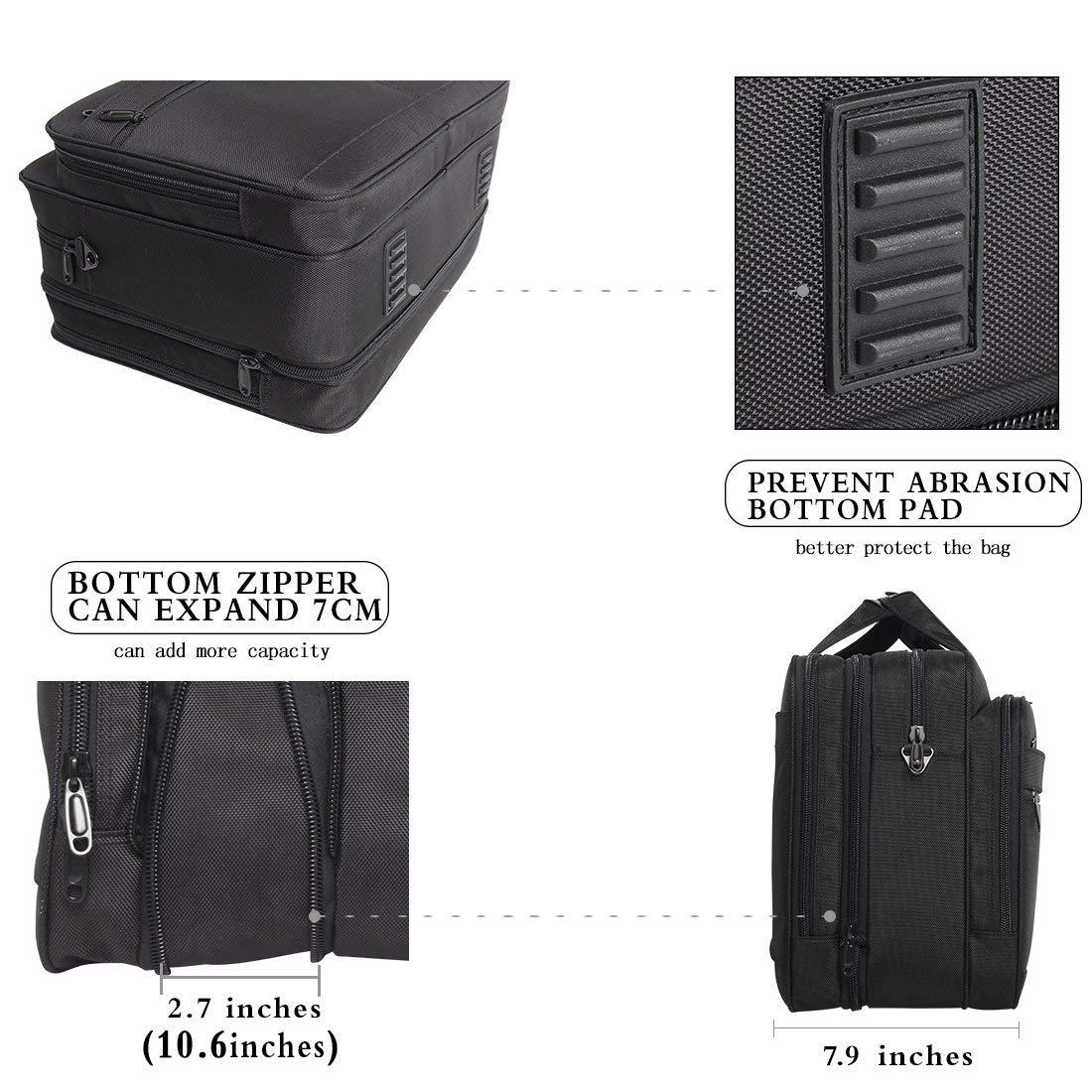 18-18.5 inch Laptop Bag,Water Resisatant Business Laptop Briefcase,Expandable High Capacity Shoulder Bag,Nylon Multi-Functional Shoulder Messenger Bag for Men Fits 17.3 inch Loptop,Computer,Tablet by LYALPH (Image #5)