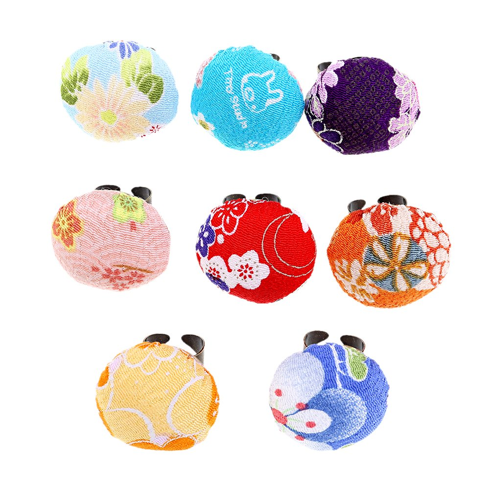 Hongma 1pcs Pin Cushion Pincushions Pillow Needles Holder Needle Floral Pattern Ring for DIY Sewing Craft Random Color