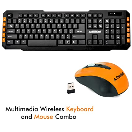 85df3aeec69 ProDot TLC-107+145 2.4Ghz Multimedia Wireless Keyboard and Mouse Combo  Compact and