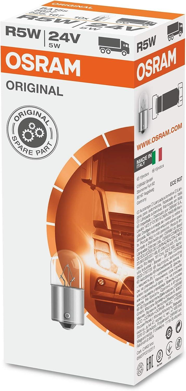 Osram 5627 Original R5 W 24 V 1 Lamp License Plate Light Quantity 1 Auto