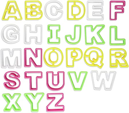 26 tlg Ausstechform Buchstaben Keks Plätzchen  Ausstecher A B C Fondant