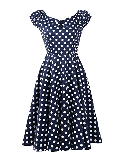 Penelope Vintage 1950s Style Dolores Swing Circle Party Dress